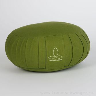 Jóga polštář Zafu – zelená