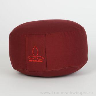 Jóga polštář Rondo malý – červená