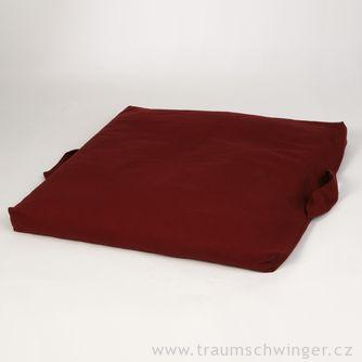Meditační podložka afuton vjednom Zafuton – červená